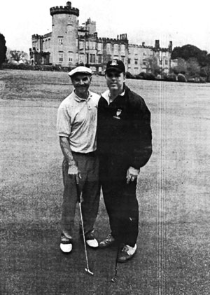 Billy Higgins and State Sen. Jack Hart shown at last year's Limerick-Boston Golf Classic held in Ireland